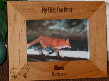 Fox Picture Frame - Personalized Frame - Laser Engraved Fox
