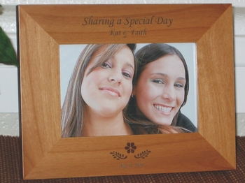 Friends Picture Frame - Personalized Frame - Laser Engraved Flower