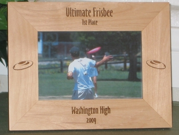 Frisbee Picture Frame - Personalized Frame - Laser Engraved Frisbees