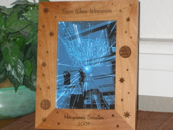 Galaxy Picture Frame - Personalized Frame - Laser Engraved Stars & Planets