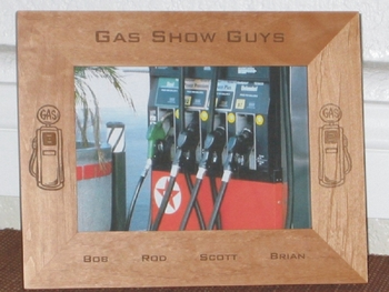 Gas Picture Frame - Personalized Frame - Laser Engraved Gasoline Tanks