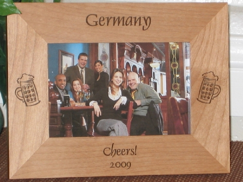 Germany Picture Frame - Personalized Frame - Laser Engraved Beer Mugs