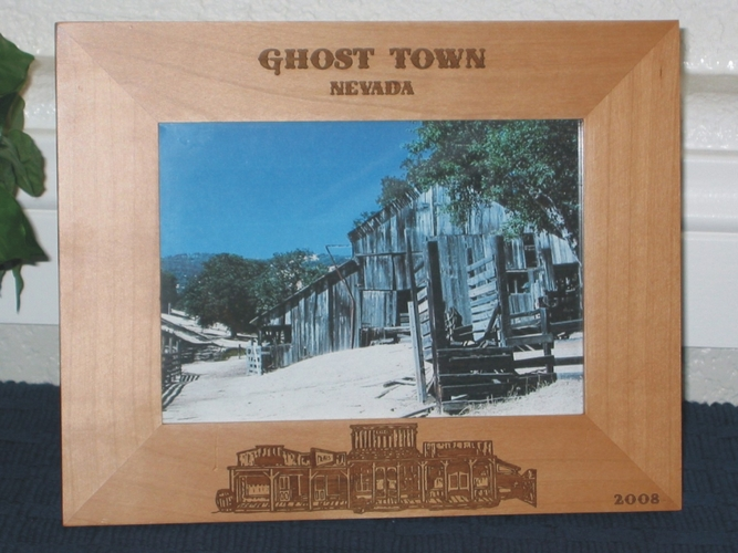 Ghost Town Picture Frame - Personalized Western Frame - Laser Engraved Ghost Town