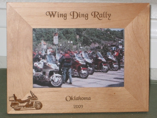 Goldwing Picture Frame - Personalized Frame - Laser Engraved Goldwing Motorcycle