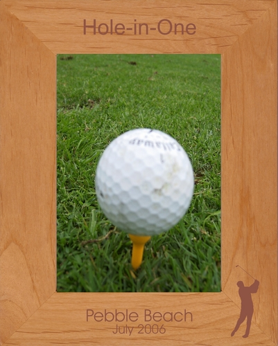 Golf Picture Frame - Personalized Frame - Laser Engraved Golfer