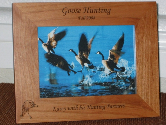 Goose Picture Frame - Personalized Hunting Frame - Laser Engraved Goose