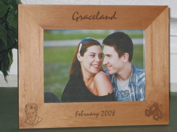 Graceland Picture Frame - Personalized Frame - Laser Engraved Elvis & Records