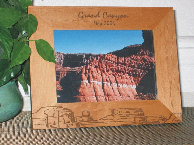 Grand Canyon Picture Frame - Personalized Frame - Laser Engraved Canyons