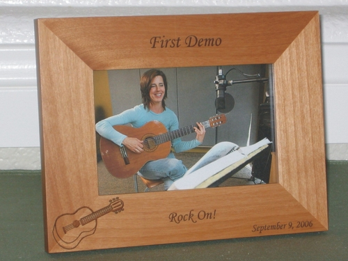 Guitar Picture Frame - Personalized Frame - Laser Engraved Guitar