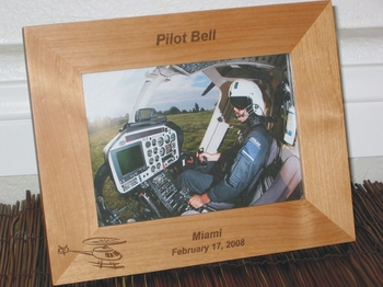 Helicopter Picture Frame - Persoanlized Frame - Laser Engraved Helicopter