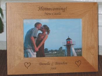 Homecoming Picture Frame - Personalized School Frame - Laser Engaved Homecoming Dance