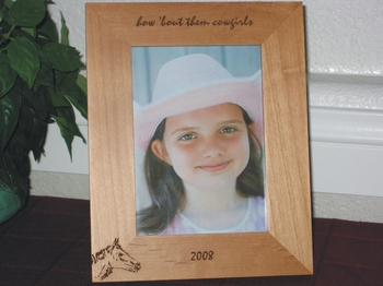 Horse Picture Frame - Personalized Frame - Laser Engraved Horse Head