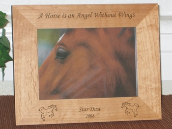 Horse Picture Frame - Personalized Frame - Laser Engraved Horses