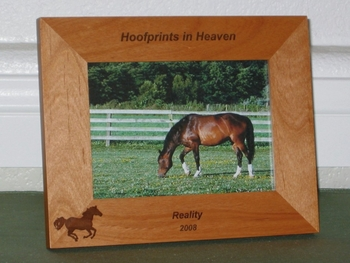 Horse Picture Frame - Personalized Frame - Laser Engraved Running Horse