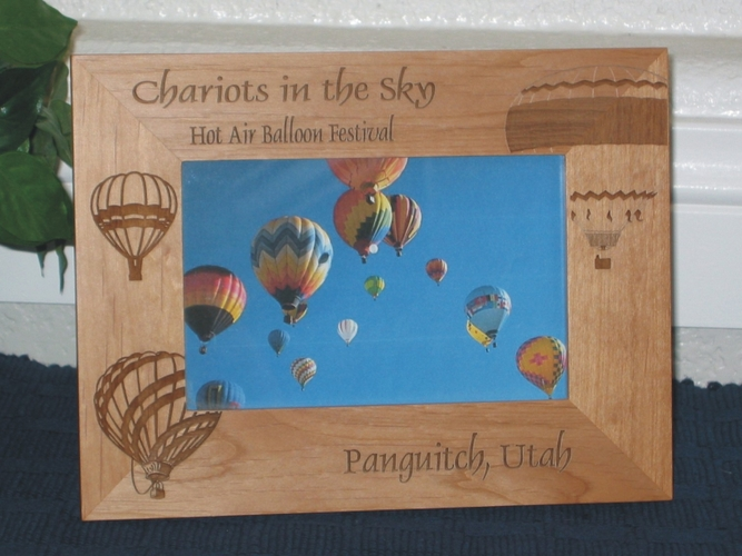 Hot Air Balloon Picture Frame - Personalized Frame - Laser Engraved Balloon