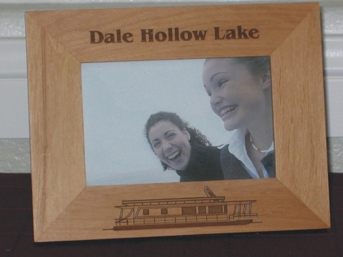 Houseboat Picture Frame - Personalized Frame - Laser Engraved Houseboat