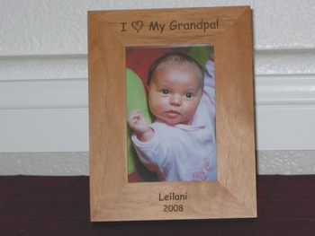 I Love My Grandpa Picture Frame - Personalized Frame - Laser Engraved I Love My Grandpa