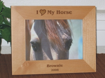 I Love My Horse Picture Frame - Personalized Frame - Laser Engraved I Love My Horse