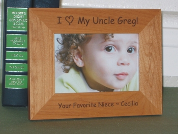 I Love My Uncle Picture Frame - Personalized Frame - Laser Engrave I Love My Uncle