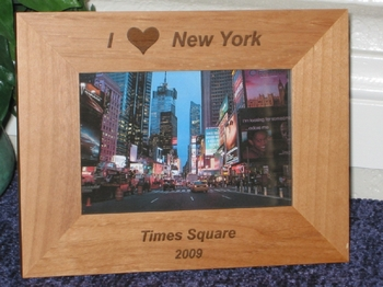 i love new y ork picture frame personalized frame laser engraved i love ny