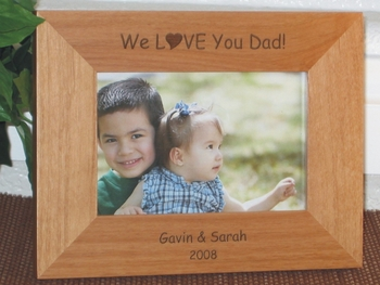 I Love You Picture Frame - Personalized Frame - Laser Engraved I Love You