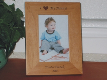 I (We) Love My (Our) Nanny Picture Frame - Personalized Frame - Laser Engraved I Love My Nanny