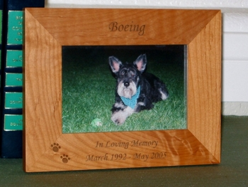 In Loving Memory Picture Frame - Personalized Pet Dog Frame - Laser Engraved Memorial