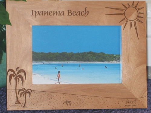 Ipanema Beach Picture Frame - Personalized Frame - Laser Engraved Beach Theme