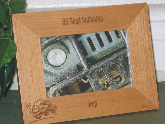 Jeep Picture Frame - Personalized Frame - Laser Engraved Jeep