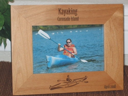 Kayak Picture Frame - Personalized Frame - Laser Engraved Kayak