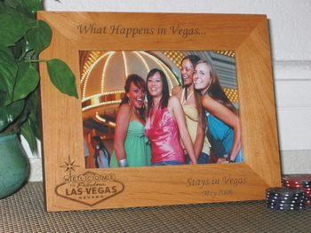 Las Vegas Sign Picture Frame - Personalized Frame - Laser Engraved Welcome Sign