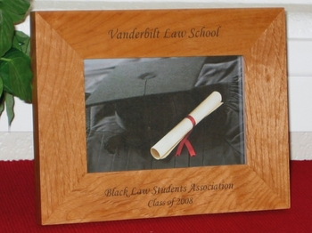 Law School Picture Frame - Personalized Gift Frame - Laser Engraved Text