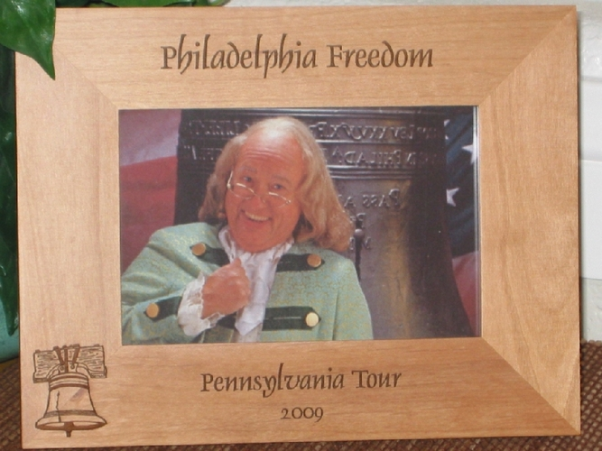 Liberty Bell Picture Frame - Personalized Frame - Laser Engraved Liberty Bell