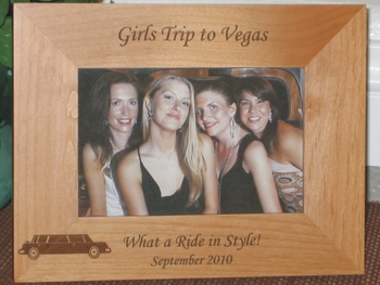 Limousine Picture Frame - Personalized Frame - Laser Engraved Limo