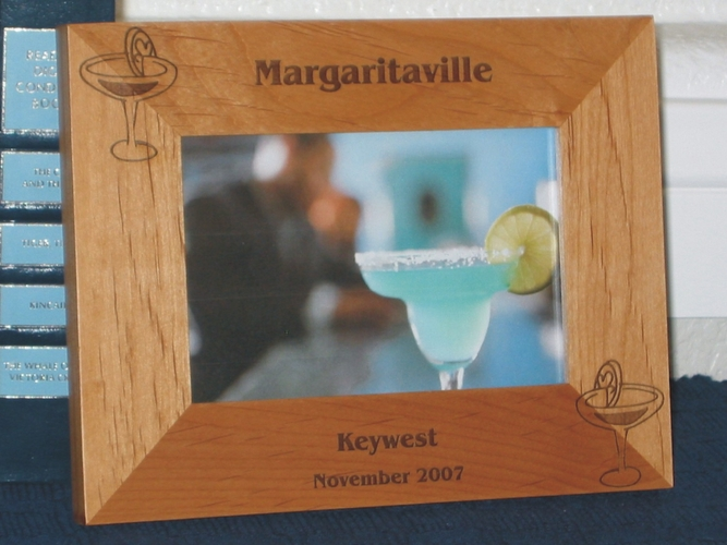 Margarita Picture Frame - Personalized Frame - Laser Engraved Margaritas