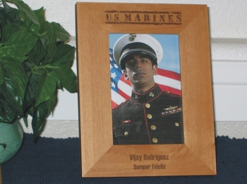 Marines Picture Frame - Personalized Frame - Laser Engraved MARINES
