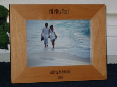 Miss You Picture Frame - Personalized Frame - Laser Engraved Text