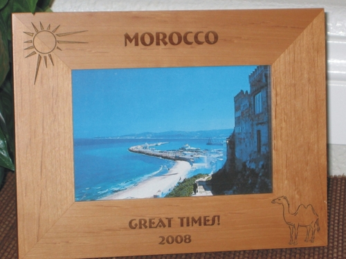 Morocco Picture Frame - Personalized Frame - Laser Engraved Camel & Sun