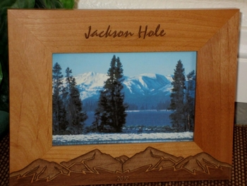Mountains Picture Frame - Personalized Frame - Laser Engraved Mountains