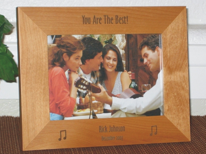 Music Picture Frame - Personalzed Frame - Laser Engraved Music Note