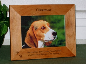 My sunshine doesn't come from the skies Picture Frame - Personalzied  Frame - Laser Engraved Dog Pawprints