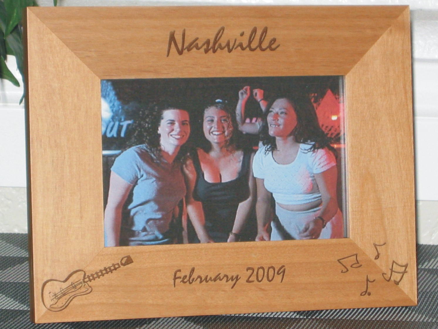 nashville picture frame personalized frame laser engraved guitar music notes