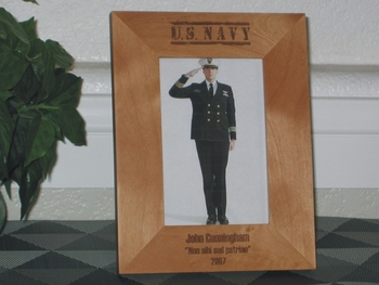 Navy Picture Frame - Personalized Frame - Laser Engraved US NAVY
