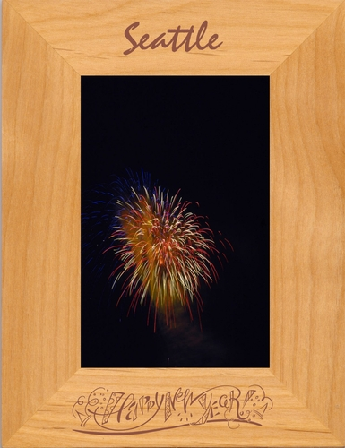 New Years Picture Frame - Personalized Frame - Laser Engraved Happy New Years