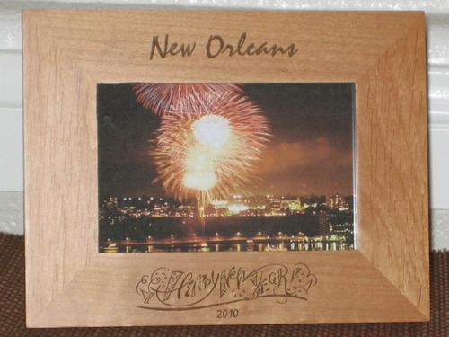 New Years Theme Picture Frame - Personalized Frame - Laser Engraved Happy New Years