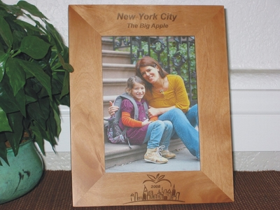New York City Picture Frames - Personalized Frame - Laser Engraved NYC Big Apple