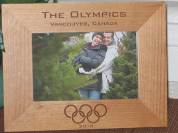 Olympics Picture Frame - Personalized Frame - Laser Engraved Olympics