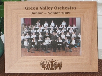 Orchestra Picture Frame - Personalized Frame - Laser Engraved Orchestra