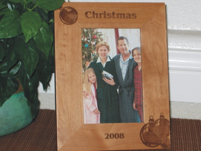 Ornament Picture Frame - Personalized Frame - Laser Engraved Chistmas Ornaments