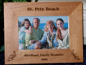 Pelican Picture Frame - Personalized Frame - Laser Engraved Pelicans